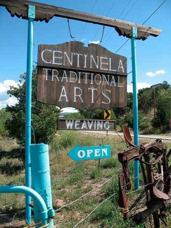 Chimayo, Nowy Meksyk: Our sign on State Road 76