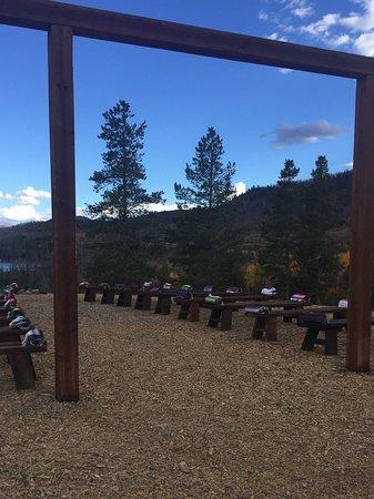 C Lazy U Ranch: Woodsie, wedding held here.