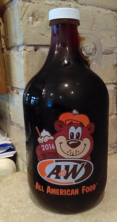 Richmond, MN: A jug of fresh root beer, bottled and ready to be consumed!