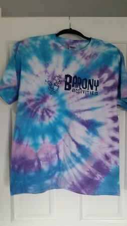 Marriott's Barony Beach Club: tie dye we made through the resort activities