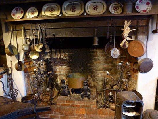 Darrow, LA: Kitchen fireplace at Houmas House