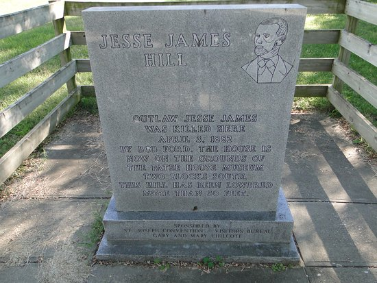Saint Joseph, MO: Jesse James Hill, original location of house where he was killed