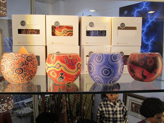 Indigenous design Candle holders - Picture of Mason Gallery, Darwin ...