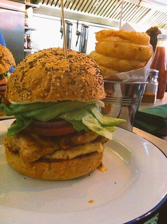 bobos burgers restaurant huge yummy juicy burger about 8 inch tall d