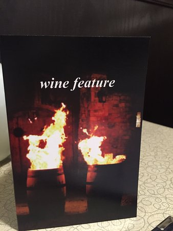 Wine Features Table Cards Taverna Rodos Roblin Blvd - Restaurant table cards