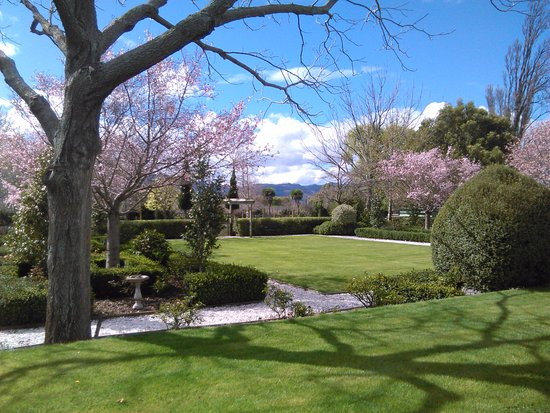 Hillsfield House Bed and Breakfast Marlborough: The formal garden in Spring at Hillsfield House