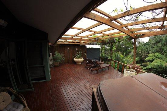 Waoku Lodge: Back decking area.