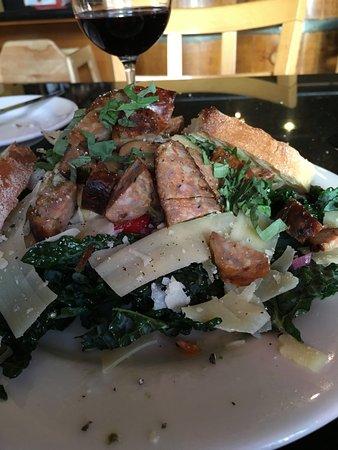 San Mateo, CA: Kale Salad With Italian Sausage