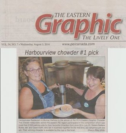 Murray Harbour, Kanada: We won the Eastern Graphic Chowder Trail competition this year...so proud of our team!