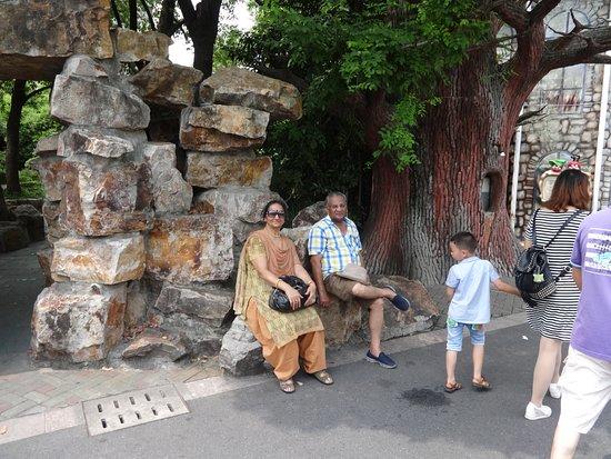 Jinjiang Amusement Park: Sit down, near the entrance.