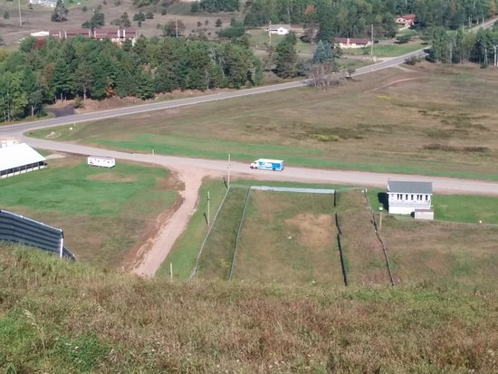 Pine Mountain Resort: View from the top of the Ski jump, resort just out of sight on the right side.