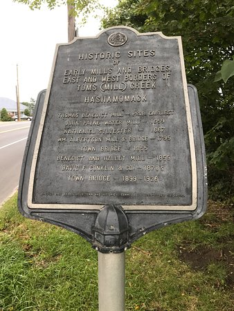 North Fork historic marker