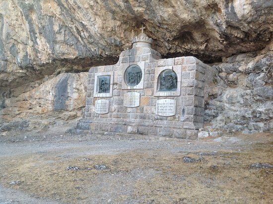 Religious monument on walk around the monastery