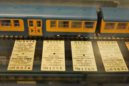 Santa Eugenia de Berga, Spanje: Billetes de tren antiguos