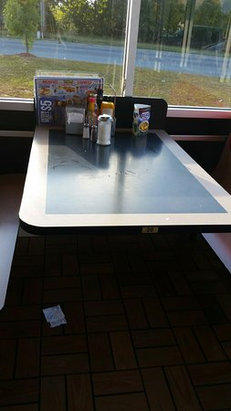 York, SC: Dirty Table & Floor