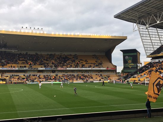 Wolverhampton, UK: View from away fans seating