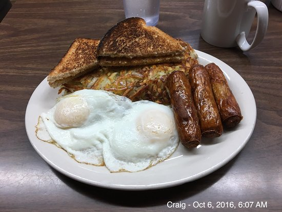"Craig, AK: The ""complete breakfast"" at Dockside Cafe. Delicious!"