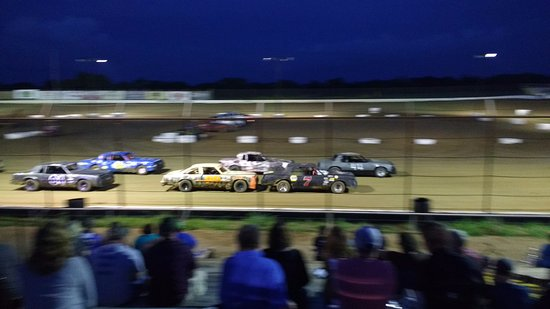 Cotton Bowl Speedway: Typical racing action...