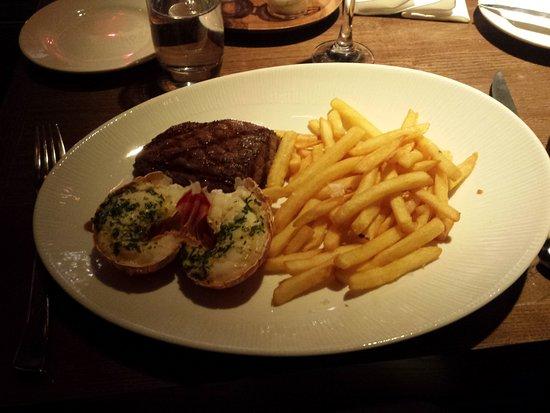 lobster, steak and chips - Picture of Heliot Steak House, London - TripAdvisor