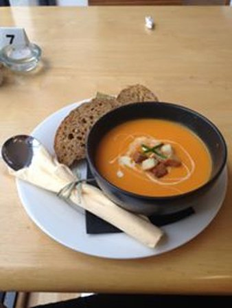 Church Stoke, UK: butternut squash soup