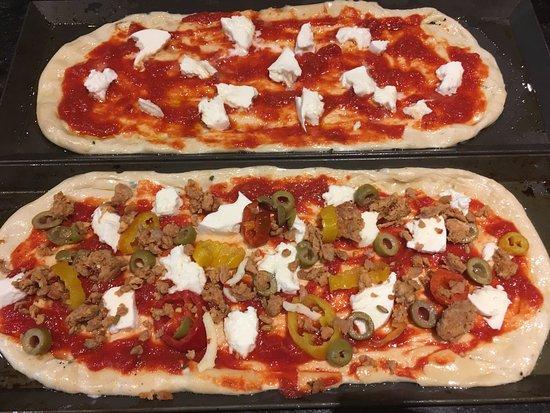 Tomaso Grilled Pizza and Panini: Delicious new menu items at Tomaso. Potato pizza, piadina flatbread, Sicilian style personal piz