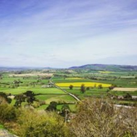 Montgomery, UK: view from the castle looking out towards welshpool