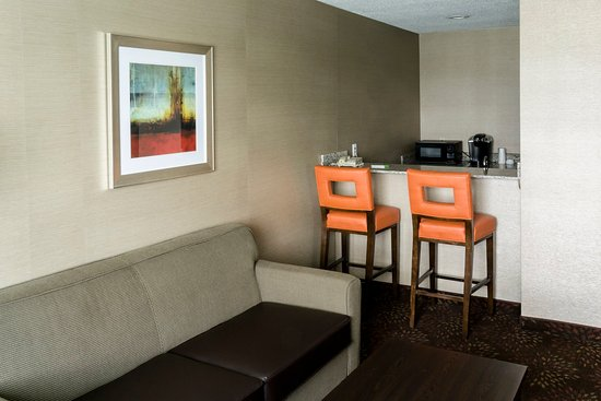 Big Rapids, MI: King Bed Suite Wet Bar Area