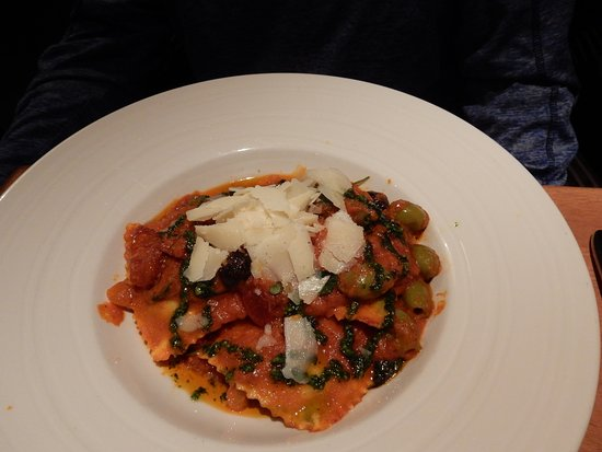 Brook Lane Hotel: Ravioli dinner