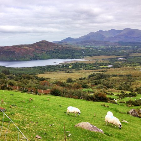 Glenbeigh, Ireland: Looking at Carra Lake from Windy Gap walk