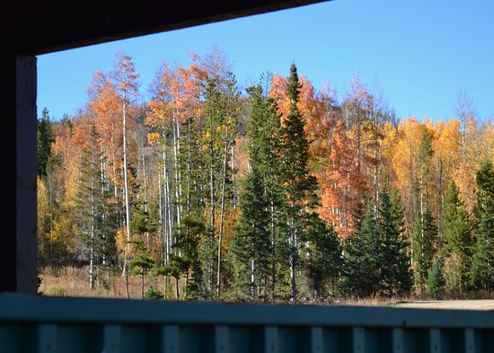 Snow Mountain Ranch: From our cabin porch.