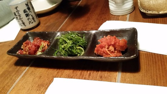 Izakaya Tomo: You can order some starters individually, or pick three for a cheaper price.