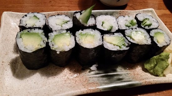 Izakaya Tomo: Vegetarian maki that won over the meat eaters among us.