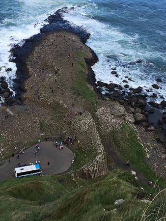 Ardtrabane House: The view of Giant's Causeway from the top of the cliff (ten- fifteen minutes walk from the house