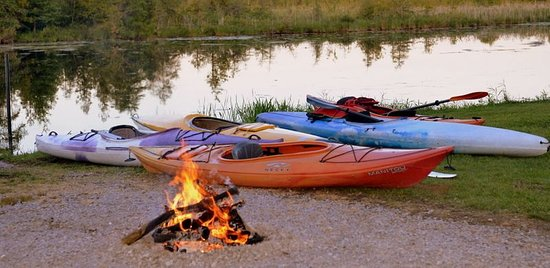 Buckhorn, Canada: Kayaks by the shore - Christine Brickman