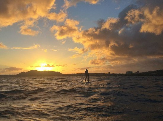 Blue Planet Surf: Kahala Run at sunset with Robert of Blue Planet