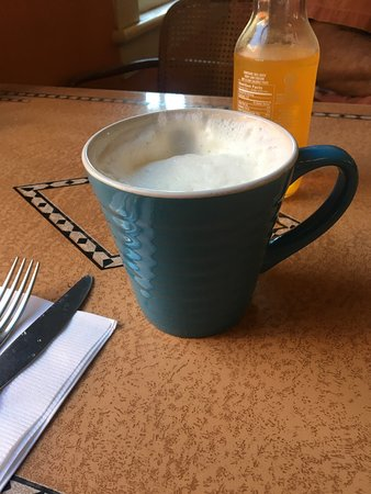Chester, VT: Hot maple steamed milk and maple syrup. Awesome