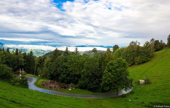 St. Kathrein am Offeneg, Österreich: Bergblick vom Balkon