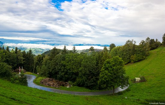 St. Kathrein am Offeneg, Österrike: Bergblick vom Balkon