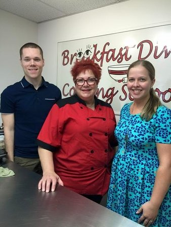 the husband and i with susan steffan owner and chef for breakfast diva cooking school