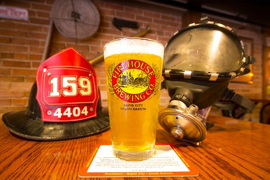 Firehouse Brewing Co. beer and firefighting decor