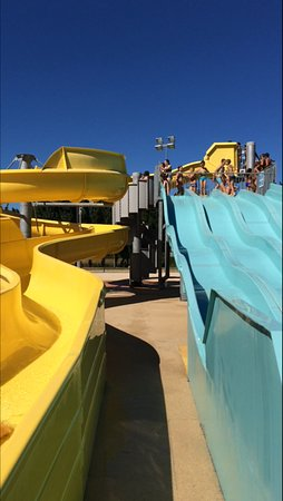 Mouliherne, France: Waterslides at Bauge