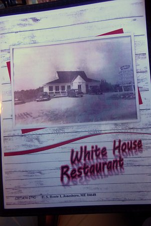 Jonesboro, ME: The menu with its history of the restaurant