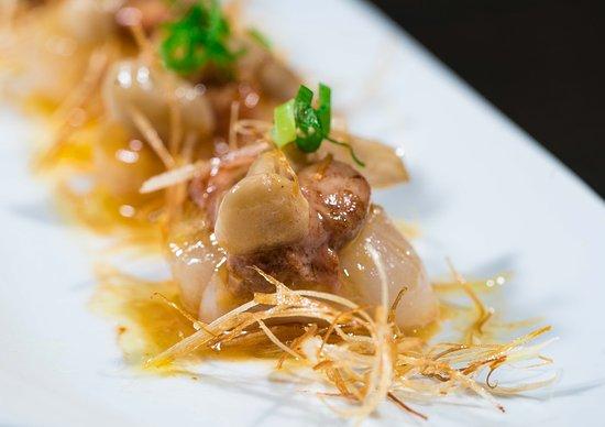 Shibui: Vieira con Foie y Mantequilla de Caviar