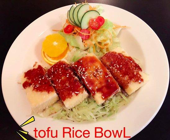 Port Alberni, Kanada: tofu rice bowl