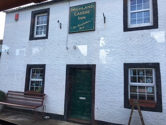 Wigton, UK: Outside of the Highland Laddie Inn