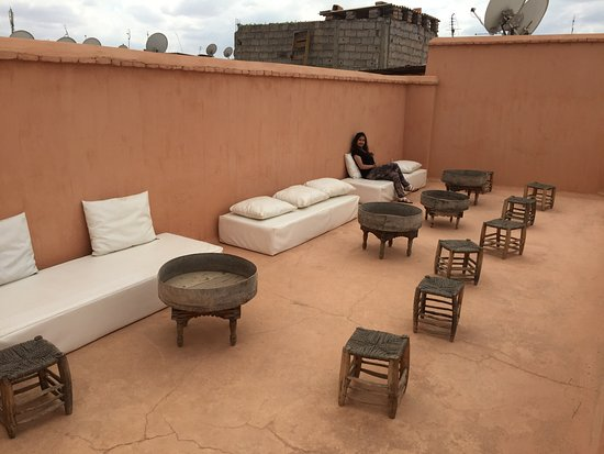 Zaouia 44: Roof Top seating area