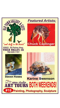 Yucca Valley, CA: Art Tour 2016 stop #18 Exclusive Caplinger and Swenson Art!