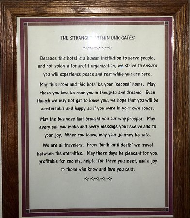 Palace Hotel: this was hanging in our room, and very nice we thought.