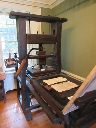 Queenston, Canada: Printing press at Mackenzie Printery & Newspaper Museum