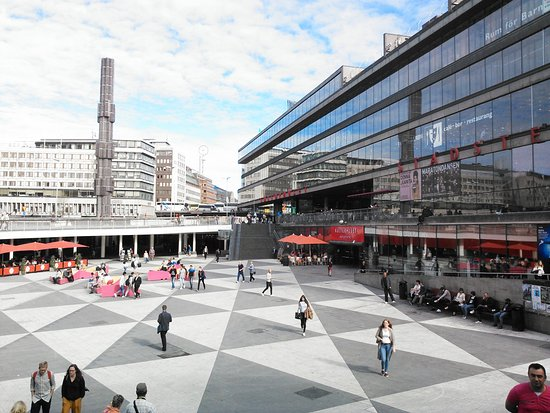 4c9bd8f2a0f View to south-east from top of stairs - Picture of Sergels Torg ...